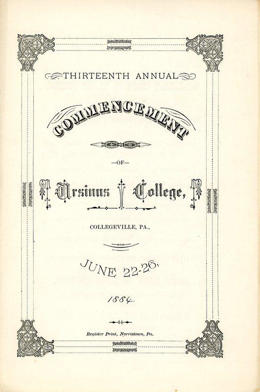 Thirteenth Annual Commencement of Ursinus College