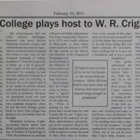 Ursinus College Plays Host to W.R. Crigler