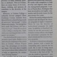 Ursinus' Movement Towards Diversity