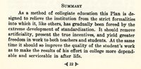 Summary of the Ursinus College Orginal Inquiry and the Research Method in Undergraduate Study (The Ursinus Plan) 1928